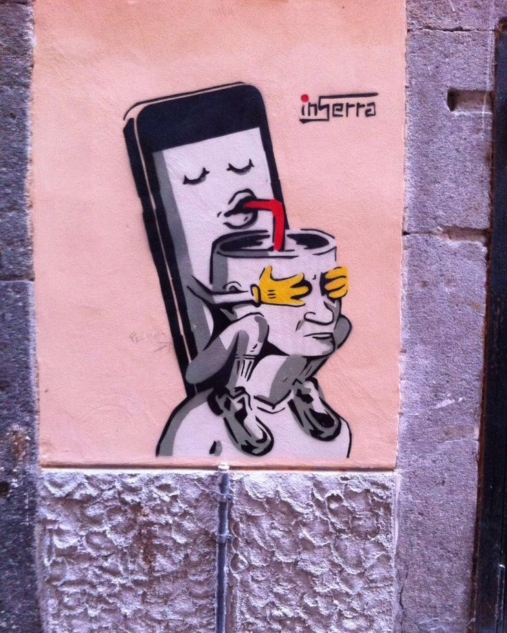 So true... #streetart in #Salerno   #mobile #art #urbanart