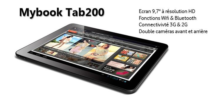 mybook tab200 la tablette 9 7 pouces ultra fine qui a du style la tablette tactile mybook. Black Bedroom Furniture Sets. Home Design Ideas
