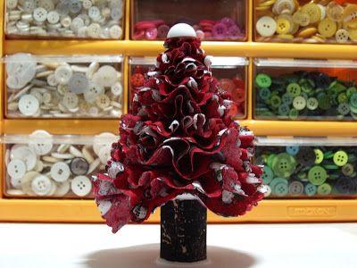 Polka Dot Pineapple: Ruffled Christmas Tree