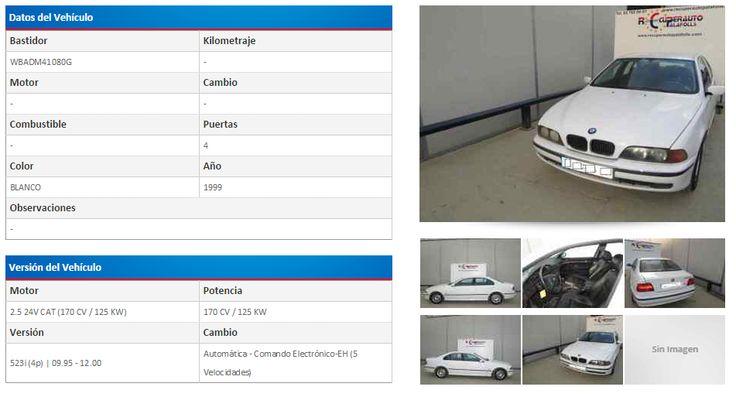 BMW SERIE 5 BERLINA (E39) 523I 2.5 24V CAT (170 CV) | 09.95 - 12.00