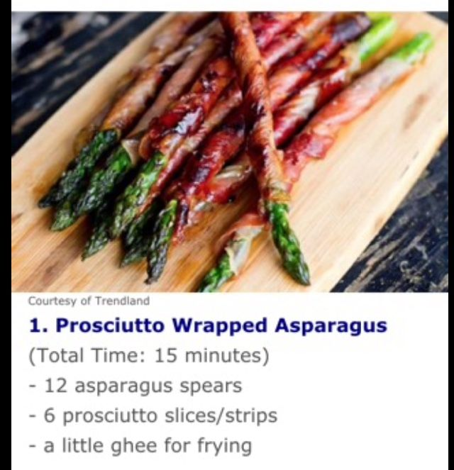... Prosciutto Wrapped Asparagus on Pinterest | Prosciutto, Asparagus and