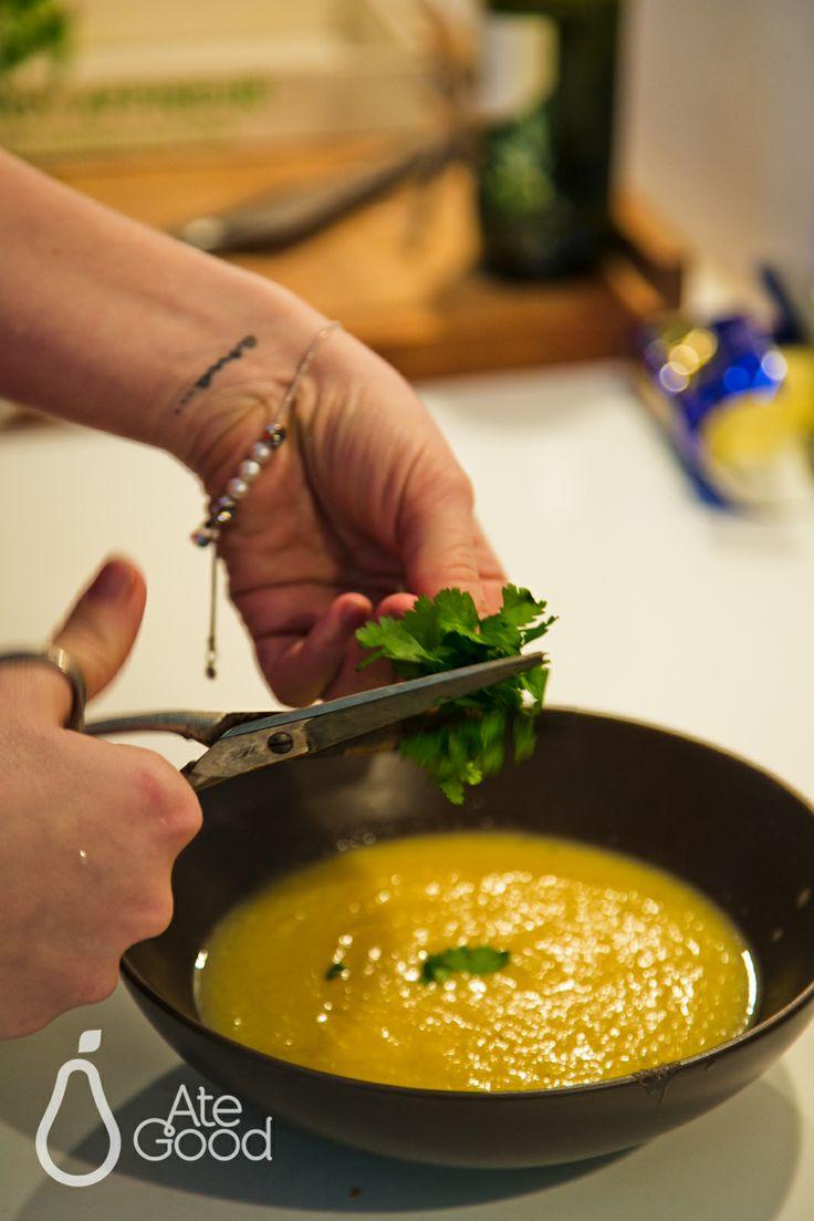 Celery cream with coriander