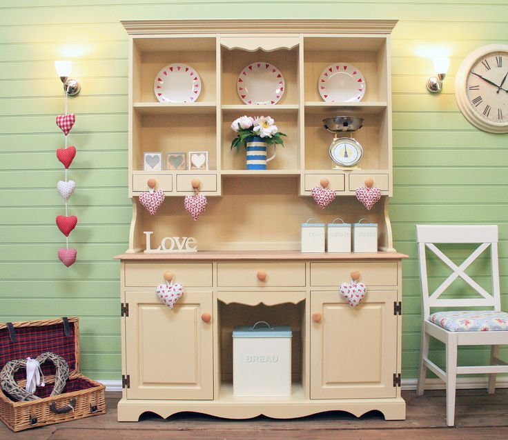 Beautiful Shabbychic Welsh Dresser Painted In Annie Sloan Cream The Company