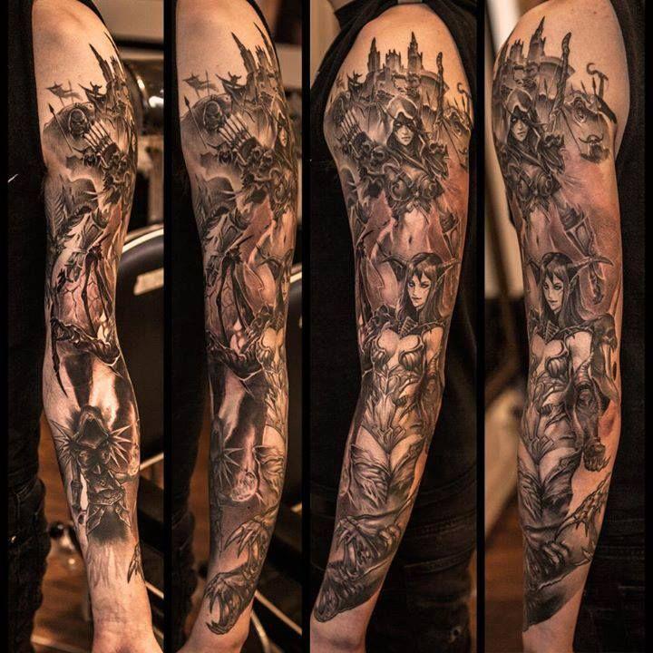 World of Warcraft Tattoo - Niki Norberg http://tattoosgeek.com/video-game-tattoos/world-of-warcraft-tattoo/
