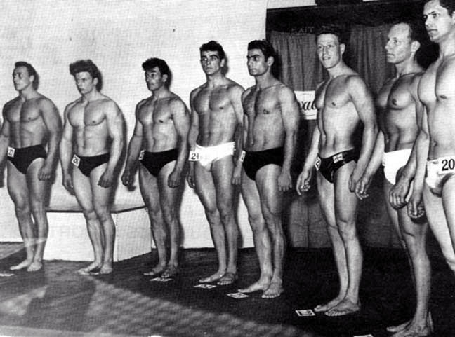 1953:  Sean Connery comes 3rd in Mr. Universe