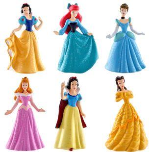 Золушка Принцесса Куклы 8 см Белоснежка Бель Аврора ПВХ Фигурку Коллекция Модель Игрушки