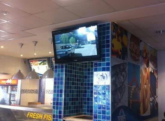 TV wall mounted with tv link eye.