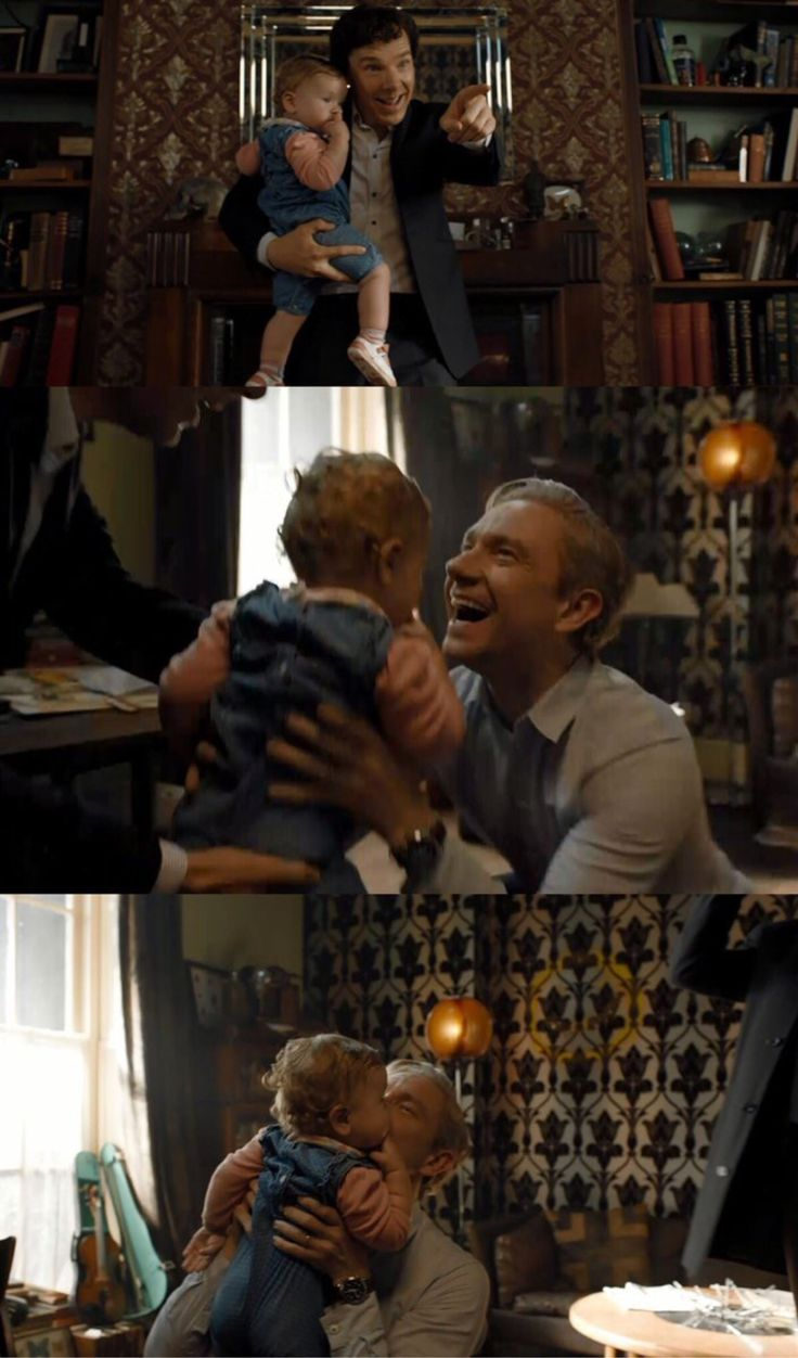 Daddy, Uncle Sherlock, and godmums Molly and Mrs. Hudson. A big, loving family to raise Rosie.