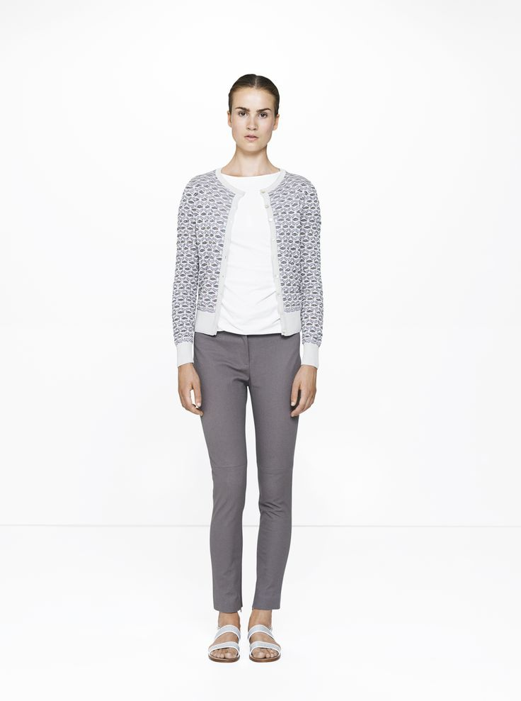 Ascot trousers with a Nilo top & Jaquard cardigan /412/175/780  ELISE GUG SS15