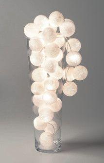 Cordão de Luz bolas brancas