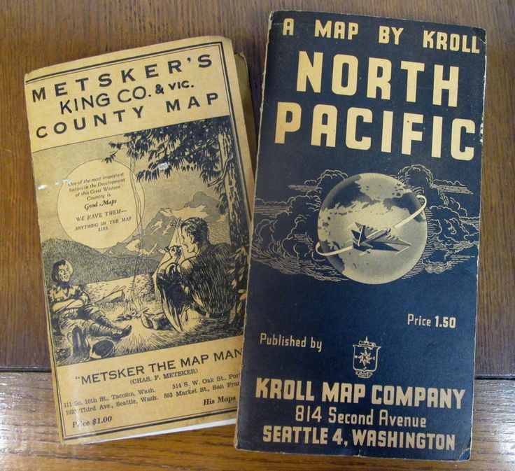 Old map covers The Metsker Map is