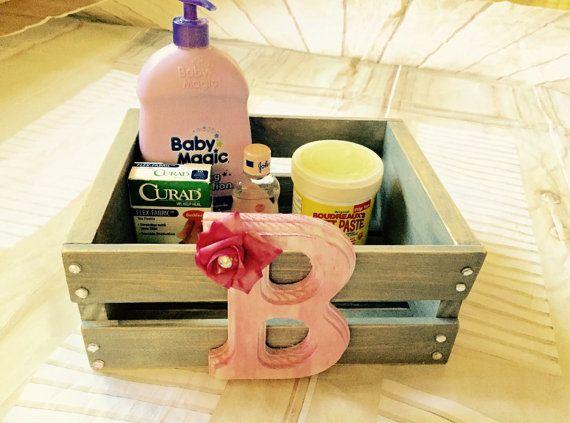 Storage box-baby diaper holder-personalized by InspiredtoImagine