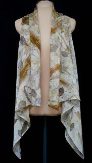 Kathy Hays Designs -Eco printed swing vest  http://www.KathyHaysDesigns.com  Learn to make this!