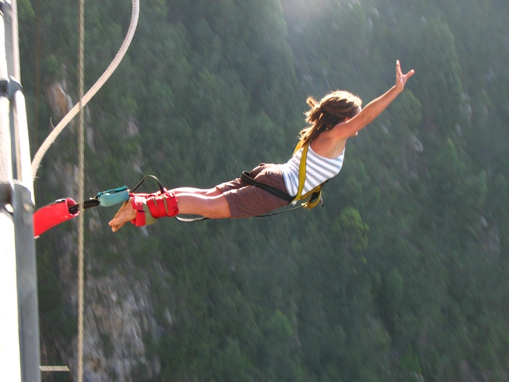 "Another ""bucket list"" item - Bungee Jumping  Scared as hell that I'm going to die a brutal death from doing this, but I'm definitely up for it. It'd be quite the fuckin' experience. Something I feel like I can push myself to do."