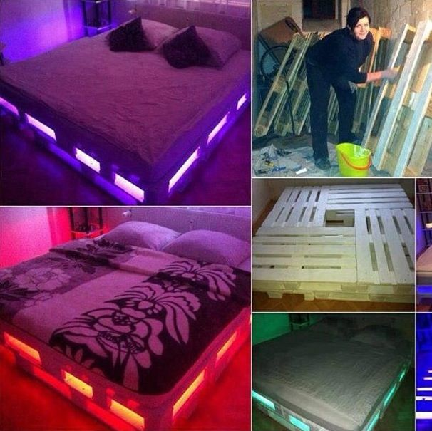 Bed Neon Lights Anyone In The Bedroom Beds And Ideals