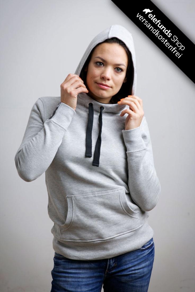 #Recolution - #Basic - Frauen Hoodie - grau-meliert - 79,90€ - 100% organic cotton and fairtrade - Versand kostenlos