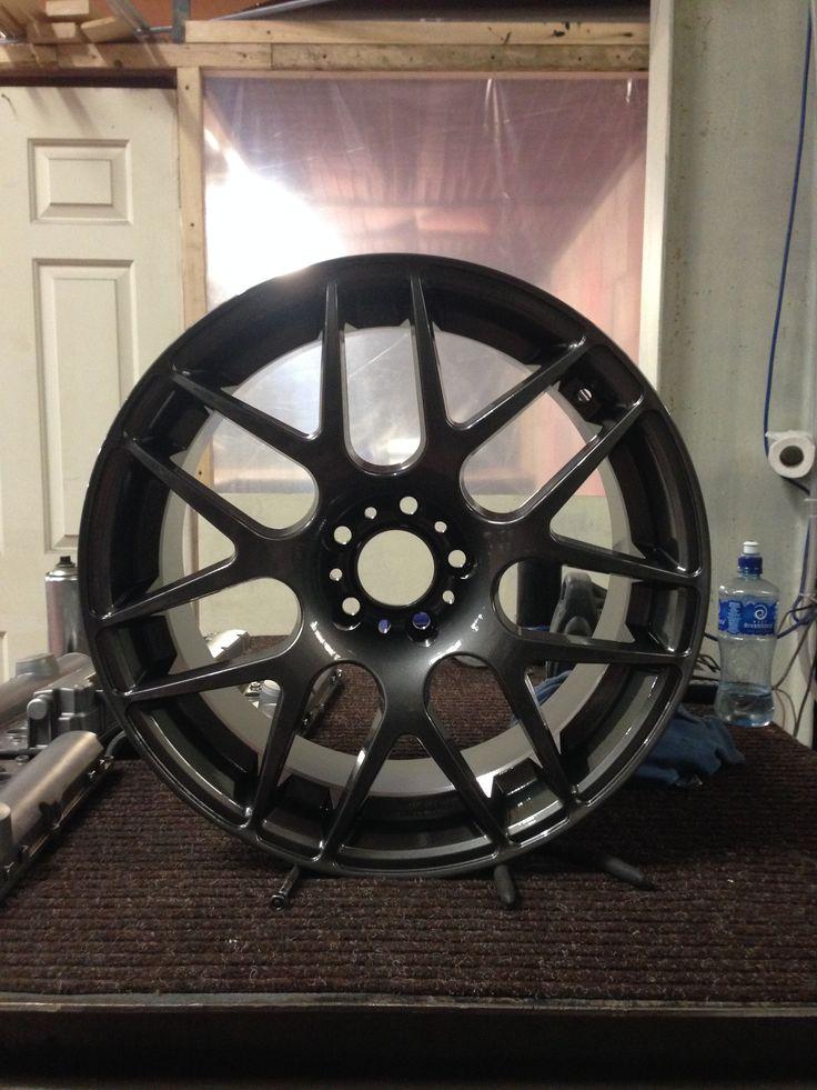 "19""Audi wheels done in gun metal grey by donegalpowdercoating company"