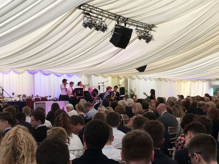 The Swing Band entertained the waiting crowd at Prize Giving 2016