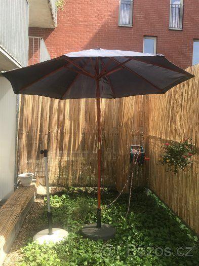 Dřevěný slunečník cca 3m - 1