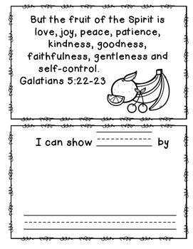 Fruit of the Spirit Book Freebie