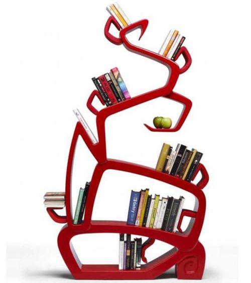 Уникальные и творческие полки и стеллажи для книг