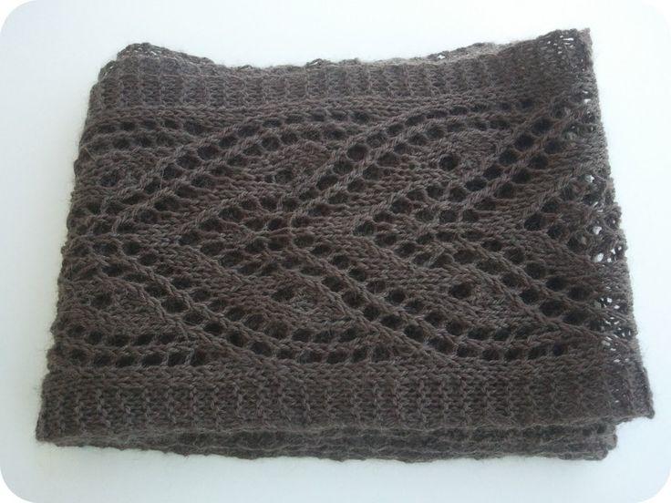 patron gratuit echarpe tricot