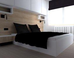 mieszkanie w Braniewie - Średnia sypialnia małżeńska, styl nowoczesny - zdjęcie od ap. studio architektoniczne Aurelia Palczewska-Dreszler