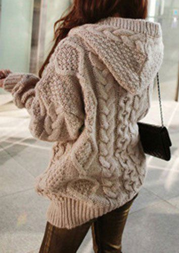 "One Size Cable-Knit Hooded Cardigan - Fairyseason. I love the phrase ""fairy season"", but cannot take credit for it. (I own one of these sweaters.)"