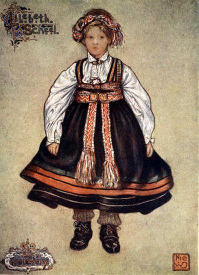 A Little Saetersdalen Peasant Girl Nicolaas Wilhelm Jungmann