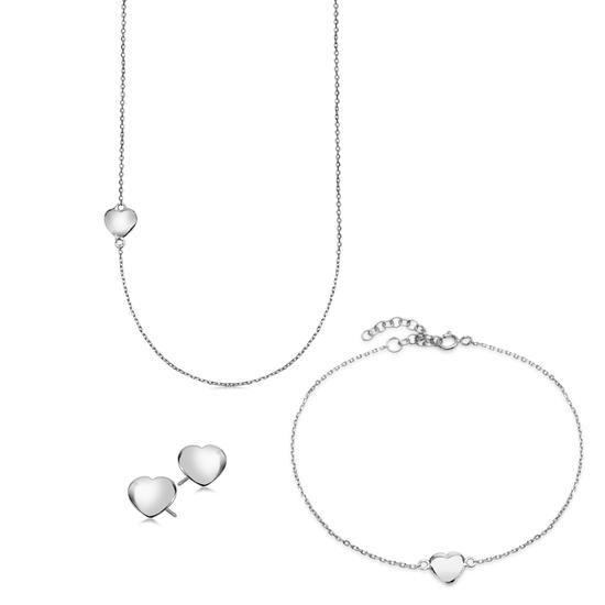 Komplet Walentynkowy, 179 PLN.  www.YES.pl/55509-komplet-walentynkowy-AB-S-000-000-ANCL498-ABCL498-AKCL498 #jewellery #buyonline #heart #love #YESforRomance #perfect #shop #freedelivery #Poland #BizuteriaYES