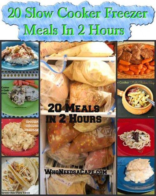 20 Slow Cooker Freezer Meals In 2 Hours