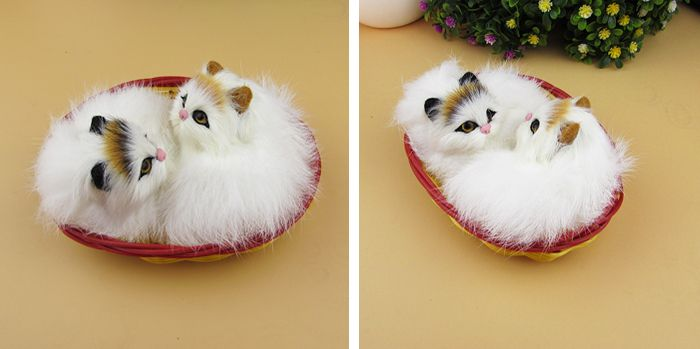A pair of Simulation cat  polyethylene&furs cat  model funny gift about 10cmx8cmx5cm //Price: $US $10.80 & FREE Shipping //     #toyz24