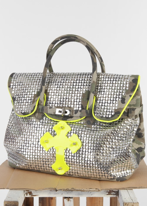 Tote Bag Camouflage Cross silber-gelb : MIA BAG, Italy