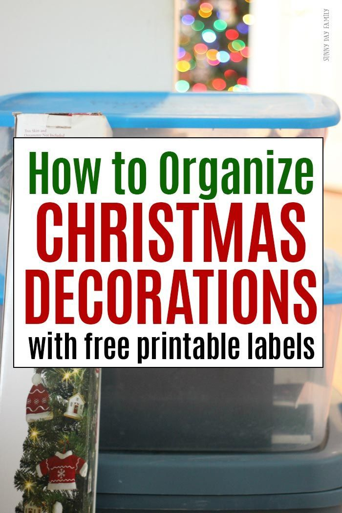 how to organize christmas decorations with free printable labels organizing christmas pinterest christmas decorations christmas and decor