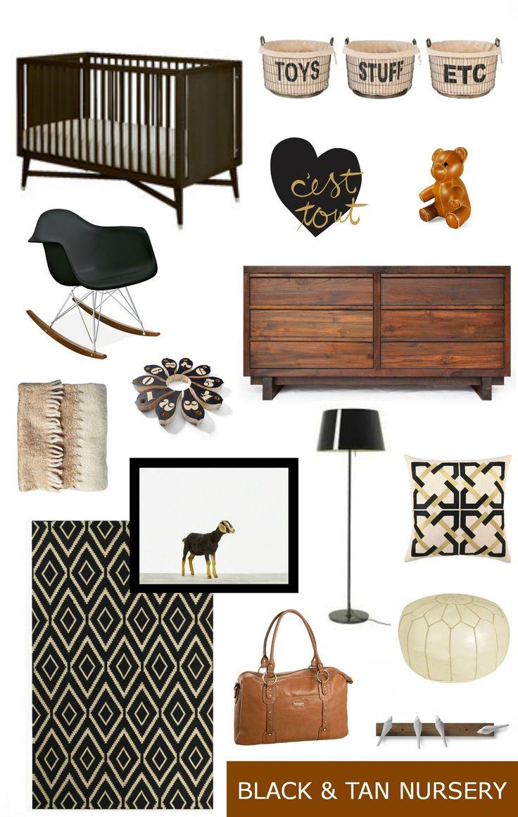 Black and Tan Nursery Inspiration