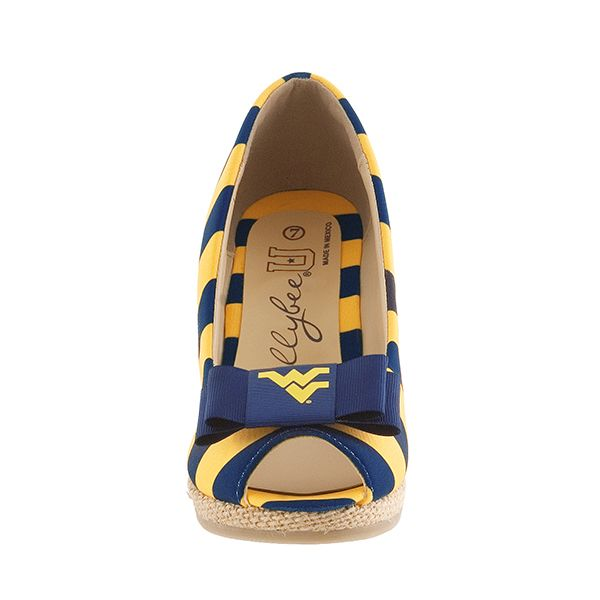 lillybee - West Virginia University Wedges   West Virginia University Bow, $98.00 (http://www.lillybee.com/west-virginia-university-wedges-west-virginia-university-bow/)
