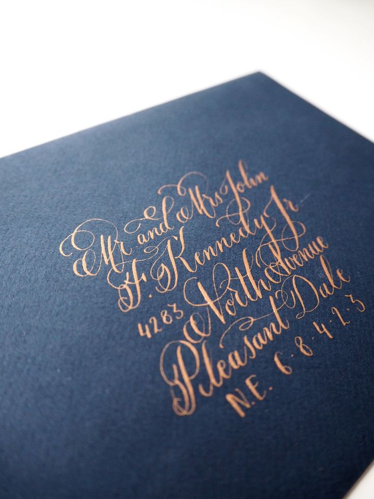 hidde & loes | royal flourish | envelop moderne kalligrafie | trouwkaart