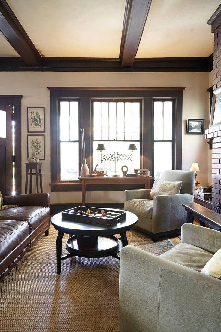 top 25 best dark wood trim ideas on pinterest wood molding tour of a craftsman home in atlanta ga