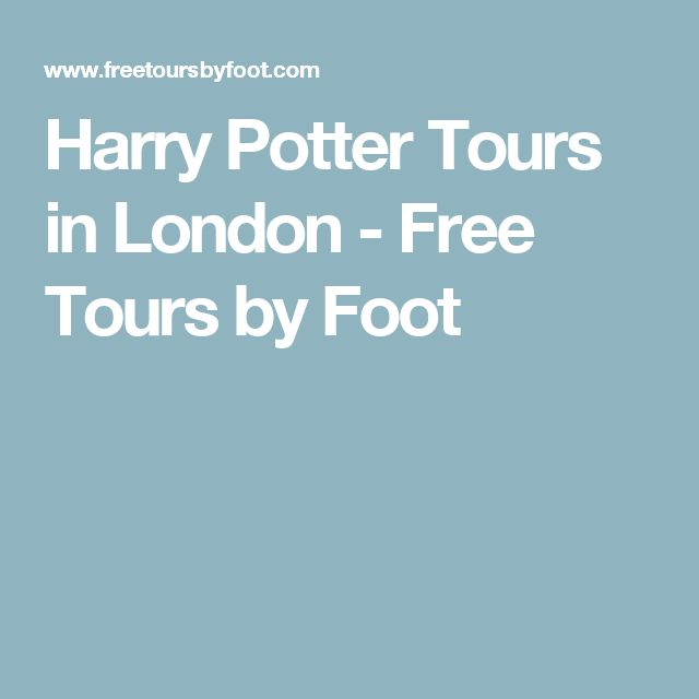 Harry Potter Tours in London - Free Tours by Foot