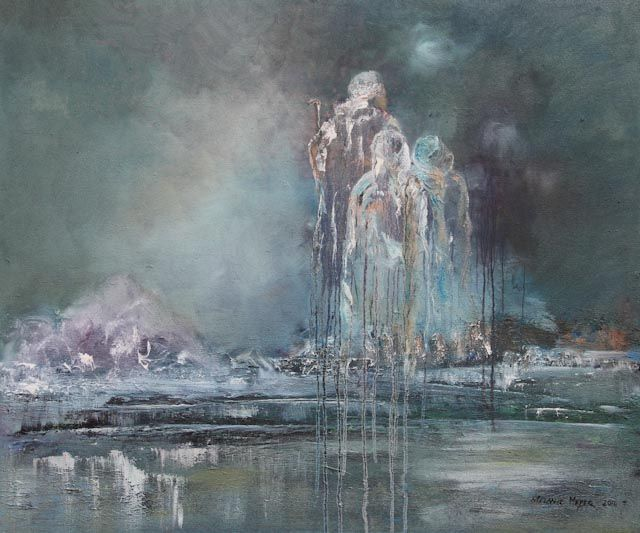 """""""Crossing the River"""" by Melanie Meyer from her Emergence Art Gallery in Cape Town"""