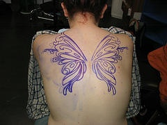 How about purple butterfly wings?Fairies Wings Tattoo, Butterflies Wings, Fairy Wing Tattoo, Body Art, Butterflies Tattoo, Butterfly Wings, Tattoo Art, Fairies Tattoo, Fairy Wings
