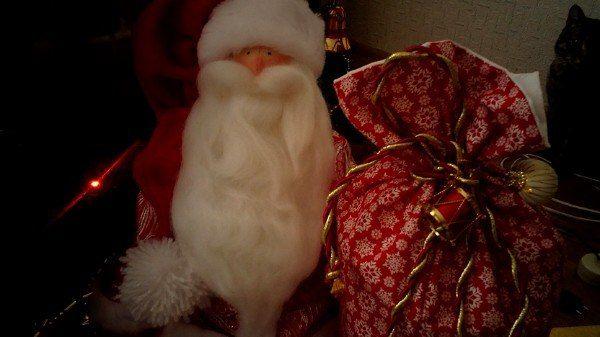 Текстильные Санта Клаусы. Куклы тильда.