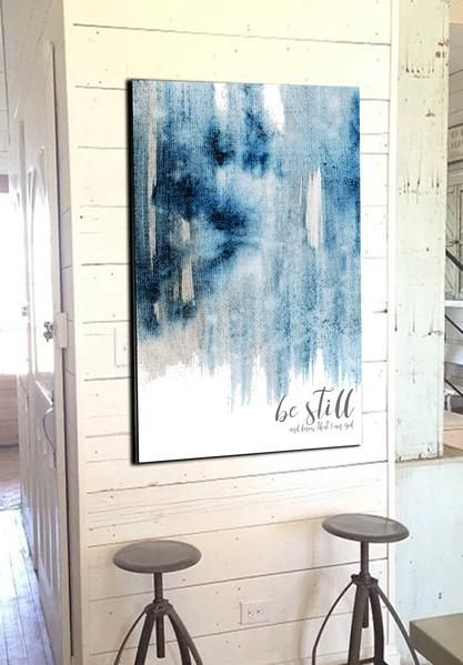 46ecf4505 Be Still and Know that I Am God Contemporary Art - Canvas Quotes ...