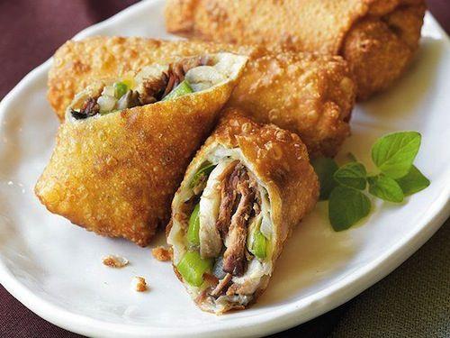 Super Bowl Appetizers: Cheesesteak Egg Rolls Recipe