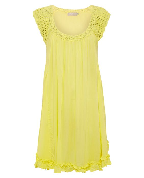Eb and Ive – Crochet Dress Canary : Butterscotch