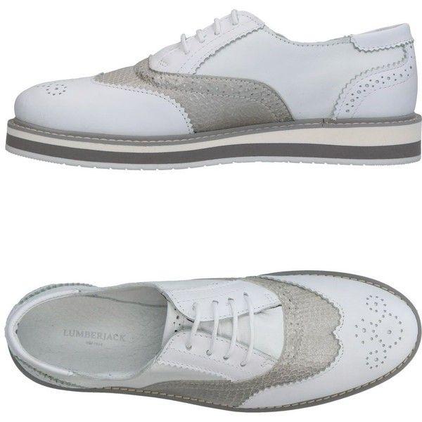 Lumberjack Lace-up Shoe (5.415 RUB) ❤ liked on Polyvore featuring shoes, white, lace up shoes, laced up shoes, snake print shoes, white shoes and python print shoes