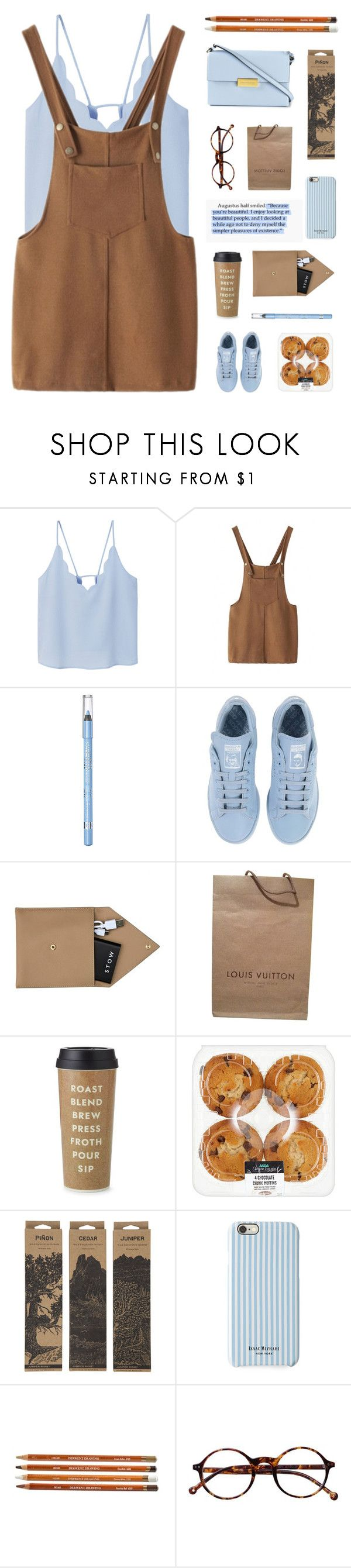 """#83"" by foalsy ❤ liked on Polyvore featuring MANGO, Rimmel, adidas, STOW, Louis Vuitton, Kate Spade, Jayson Home, Isaac Mizrahi, Retrò and STELLA McCARTNEY"