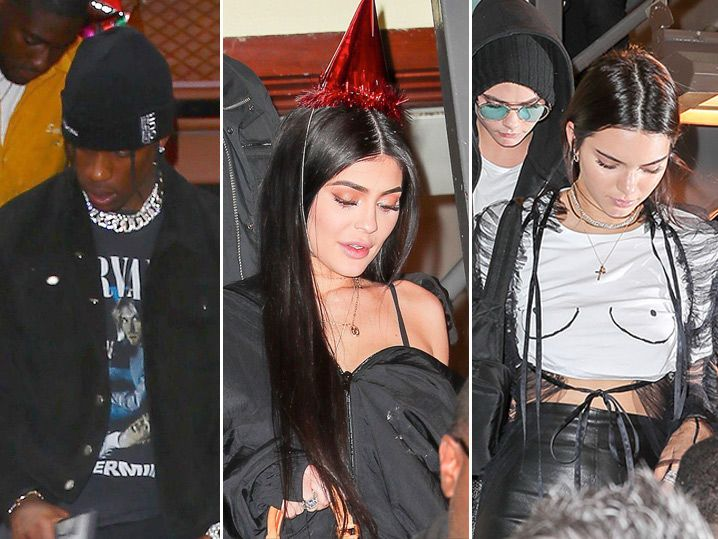 Kylie Jenner & Crew Rep for New BF Travis Scott's Birthday (PHOTO GALLERY)