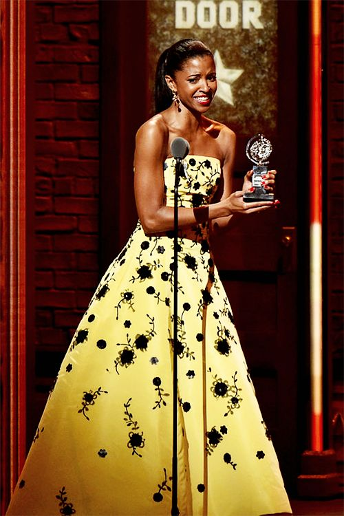 """theatregraphics: """" """"Renée Elise Goldsberry accepts the award for Best Performance By An Actress In a Featured Role In a Musical for """"Hamilton"""" during the 70th Annual Tony Awards at The Beacon Theatre on June 12, 2016 in New York City. """" """""""
