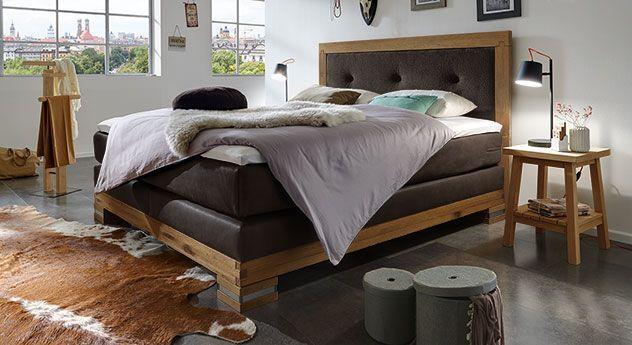 Boxspringbett  - schlafzimmer ideen landhaus